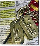 Faith Service Patriotism Acrylic Print