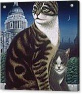 Faith, The St. Paul's Cat Acrylic Print