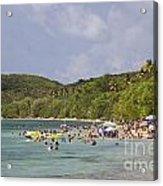 Fajardo Beach In  Puerto Rico Acrylic Print