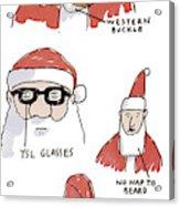 Fake Santas Acrylic Print