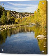 Fall Along River Sierra Ancha Acrylic Print