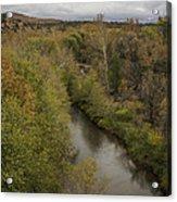 Fall Along The Creek Acrylic Print