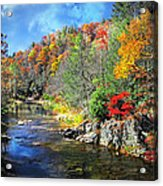 Fall Along The Linville River Acrylic Print