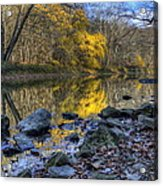 Fall Along The Scenic River Acrylic Print