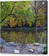 Fall Along The Scioto River Acrylic Print