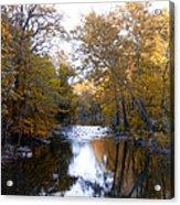 Fall Along The Wissahickon Acrylic Print