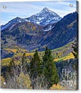 Fall At Cascade Peak And Sundance From Alpine Loop  Acrylic Print