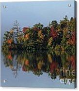 Fall At Heart Pond Acrylic Print