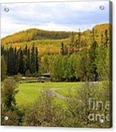Fall At The Course Acrylic Print