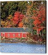 Fall At The Mill Acrylic Print by Jayne Carney
