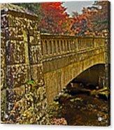 Fall Bridge Acrylic Print