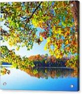 Fall By The Lake Acrylic Print