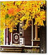 Fall Canopy Over Victorian Porch Acrylic Print