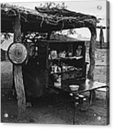 Fall Cattle Round-up Tohono O'odham Reservation Cook's Work Area Hanging Meat For Curing Near Sells  Acrylic Print