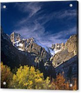 Fall Color Below Middle Palisades Glacier Eastern Sierras California Acrylic Print