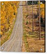 Fall Color Tour Mn Highway 1 2925 Acrylic Print