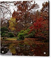 Fall Colors In The Garden Acrylic Print