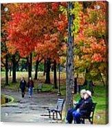 Fall Couples Acrylic Print