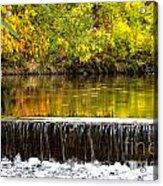 Fall Falls Acrylic Print by Baywest Imaging