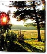 Fall Farm Sunrise 10 10 13 Acrylic Print