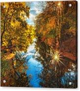 Fall Filtered Reflections Acrylic Print by Sylvia J Zarco