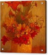 Fall Flower Bouquet Acrylic Print