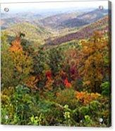 Fall Folage 3 Along The Blueridge Acrylic Print
