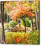 Fall Folage And Pond Acrylic Print