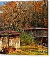 Fall Foliage At Meems Bottom Bridge Acrylic Print