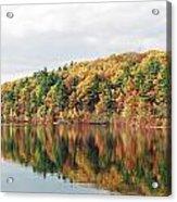 Fall Foliage At Walden Pond Acrylic Print by John Sarnie