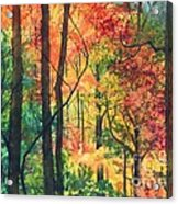 Fall Foliage Acrylic Print by Barbara Jewell