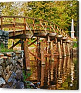 Fall Foliage Over The North Bridge Acrylic Print