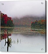 Fall Foliage Reflections In Northern Vermont Acrylic Print