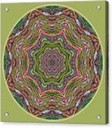 Fall Grass Mandala Acrylic Print