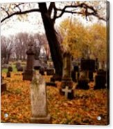 Fall Graveyard  Acrylic Print