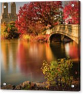 Fall In Central Park Acrylic Print