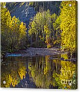 Autumn Reflections In Fort Mcmurray Acrylic Print