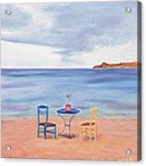 Fall In Mykonos Acrylic Print