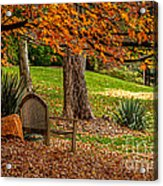 Fall In The Gardens Acrylic Print