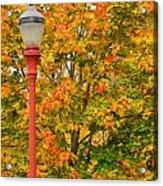 Fall Lamppost Acrylic Print