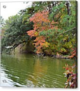 Fall Landscape Around The Lake 2 Acrylic Print
