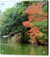 Fall Landscape Around The Lake 5 Acrylic Print