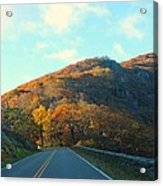 Fall Mountain Road Acrylic Print by Candice Trimble
