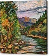 Fall New River Scene Acrylic Print