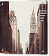 Fall On 42nd Street Acrylic Print