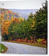 Fall On Fox Hollow Road Acrylic Print