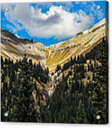 Fall On Red Mountain Pass Acrylic Print