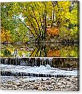 Fall On The Poudre Acrylic Print by Baywest Imaging