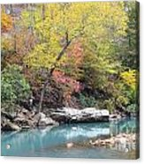 Fall On The River Acrylic Print