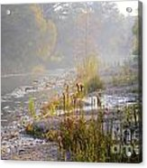 Fall On The River Acrylic Print